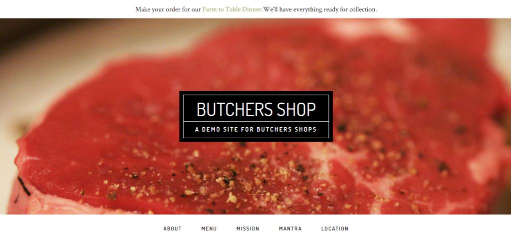 Butchers shop demo image